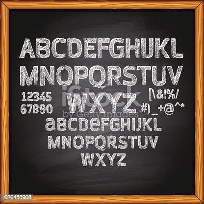 Chalk Drawing, Chalk - Art, Alphabet, Text, Blackboard