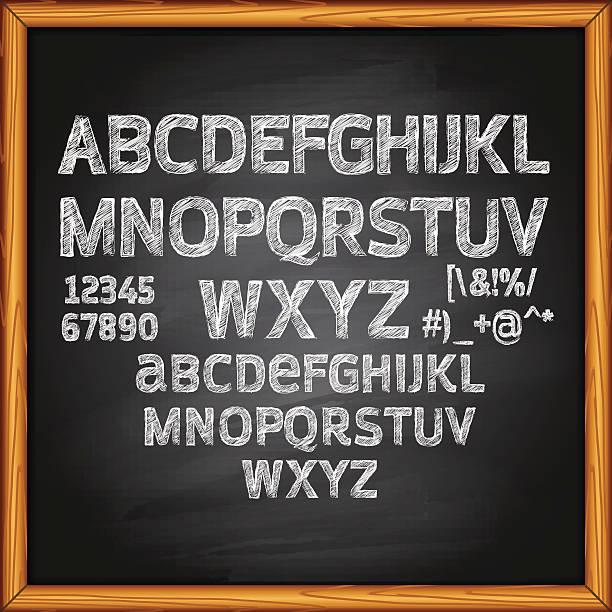 kreide-schriftzug auf tafel - kreide stock-grafiken, -clipart, -cartoons und -symbole