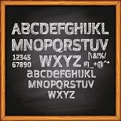 Chalk Lettering on Blackboard