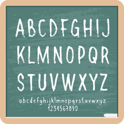 Chalk Letters and Numbers