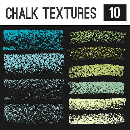 Chalk, oil pastel, crayon vector textures. Grunge design elements.