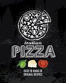 Chalk Pizza Poster