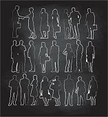 Chalk Silhouette Collection