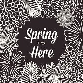 Chalkboard style Spring background.  Colors are global.  Download includes zipped AI CS4 file with editable text.