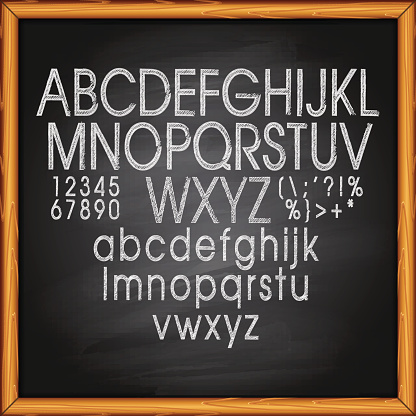 Chalk Text on blackboard