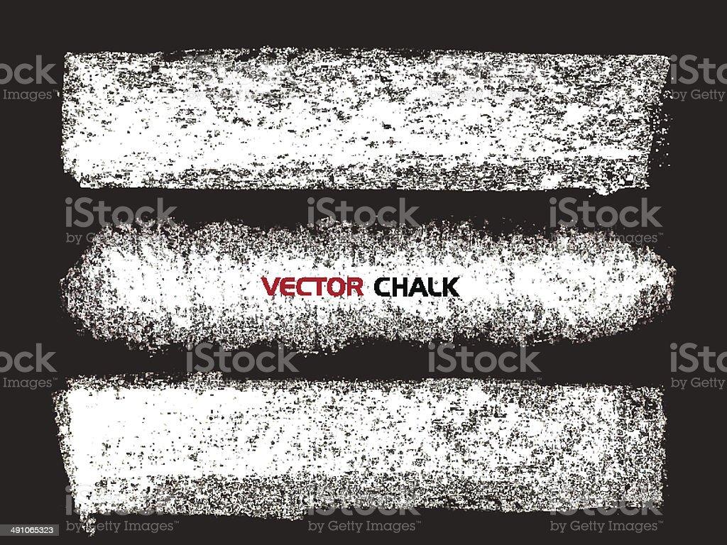 Chalk texture banner stripes on black board. vector art illustration