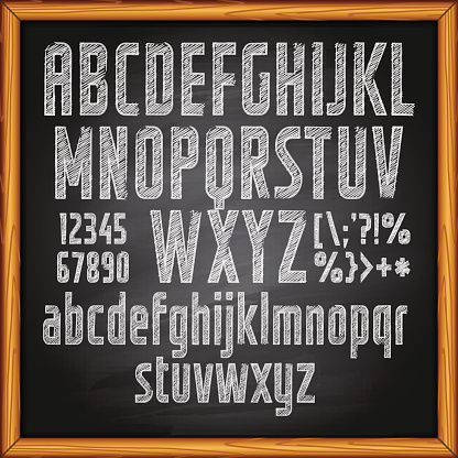 Chalkboard and Lettering