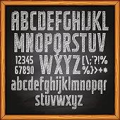 Chalk Drawing, Chalk - Art Equipment, Alphabet, Text, Blackboard