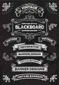 Chalkboard Banners and Frames - Design Elements