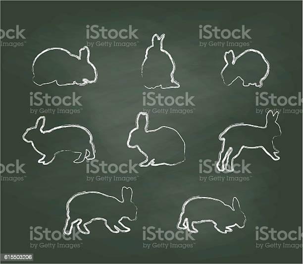 Chalkboard bunnies vector illustration vector id615503206?b=1&k=6&m=615503206&s=612x612&h=vsfx1malkif57c2yxlyzwoufy9mz8gairj7lb cwopy=