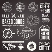 Set of chalkboard labels and design elements. Colors are global and each design is grouped for easy editing.  Download includes zipped AI file with unexpanded text which can be edited.