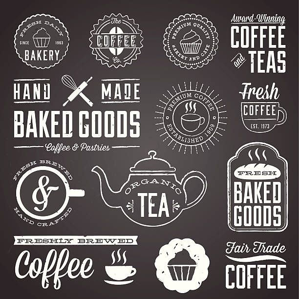 Chalkboard Cafe and Bakery Designs Set of chalkboard labels and design elements. Colors are global and each design is grouped for easy editing.  Download includes zipped AI file with unexpanded text which can be edited.