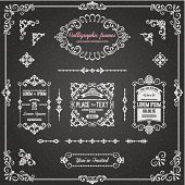 Chalkboard Calligraphic Frames and Page Decoration