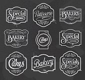 chalkboard calligraphic vector signs