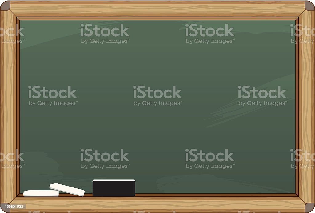 Chalkboard Canvas royalty-free stock vector art
