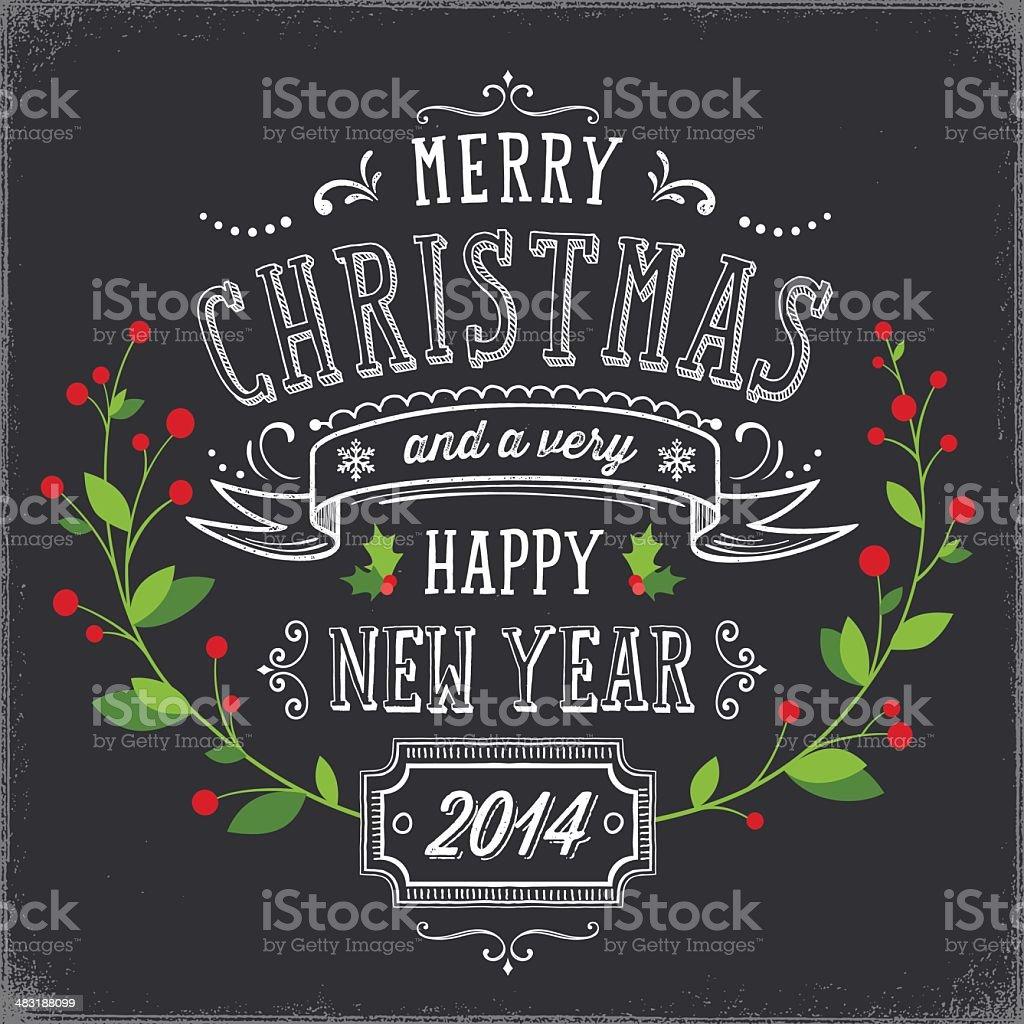 Chalkboard Christmas Card royalty-free stock vector art
