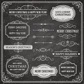 Christmas ornaments and labels. Only solid fills used.