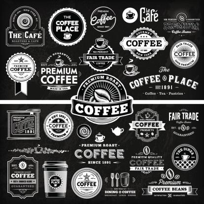 Chalkboard Coffee Label Megaset