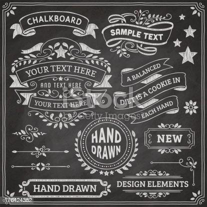 chalkboard design elements stock vector art more images of