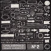 istock Chalkboard Design Elements 469234234