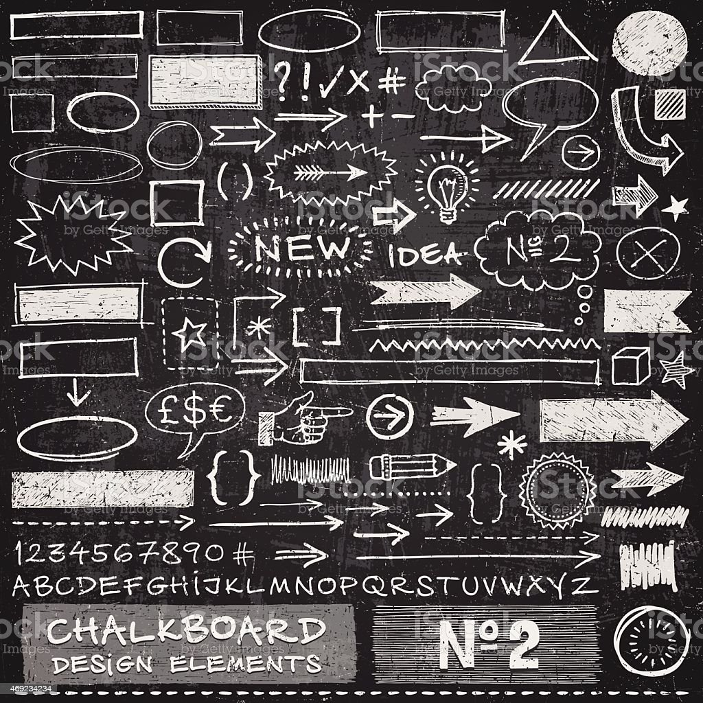 Chalkboard éléments de Design - Illustration vectorielle