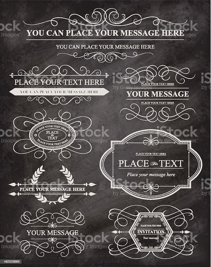 Chalkboard design elements royalty-free stock vector art