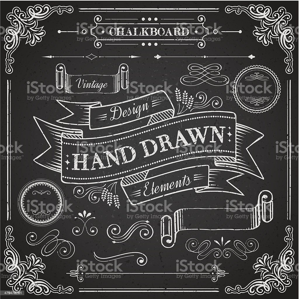 Chalkboard Elements royalty-free chalkboard elements stock vector art & more images of abstract