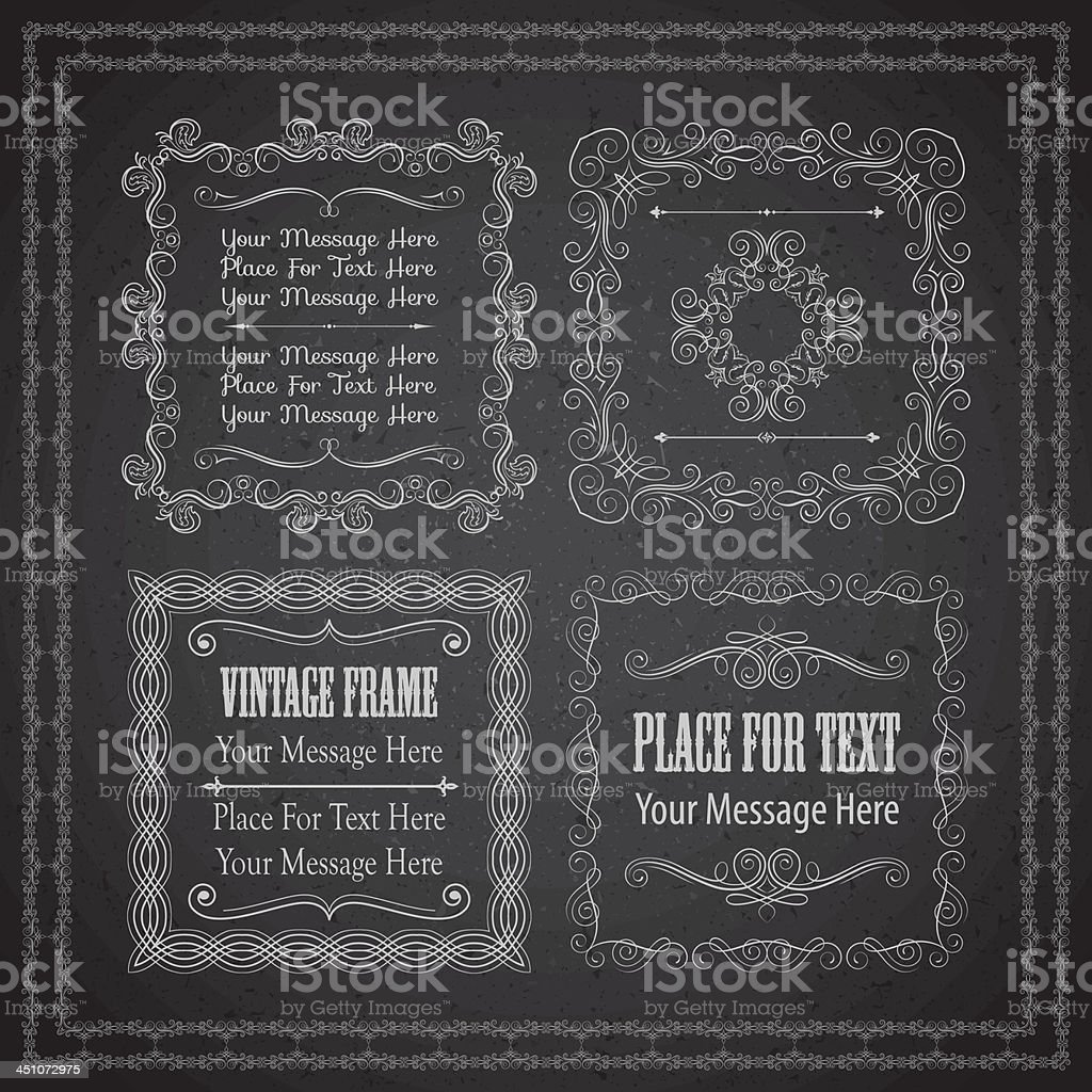Chalkboard frames royalty-free stock vector art