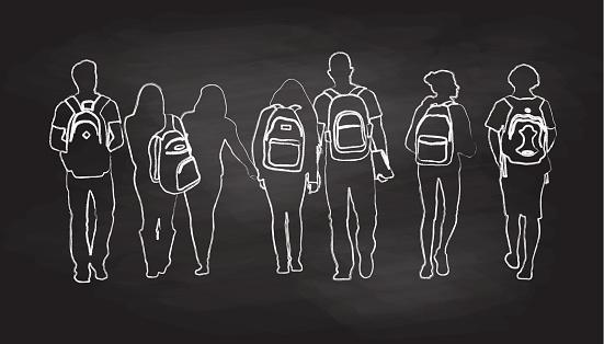 Chalkboard Friends Walk