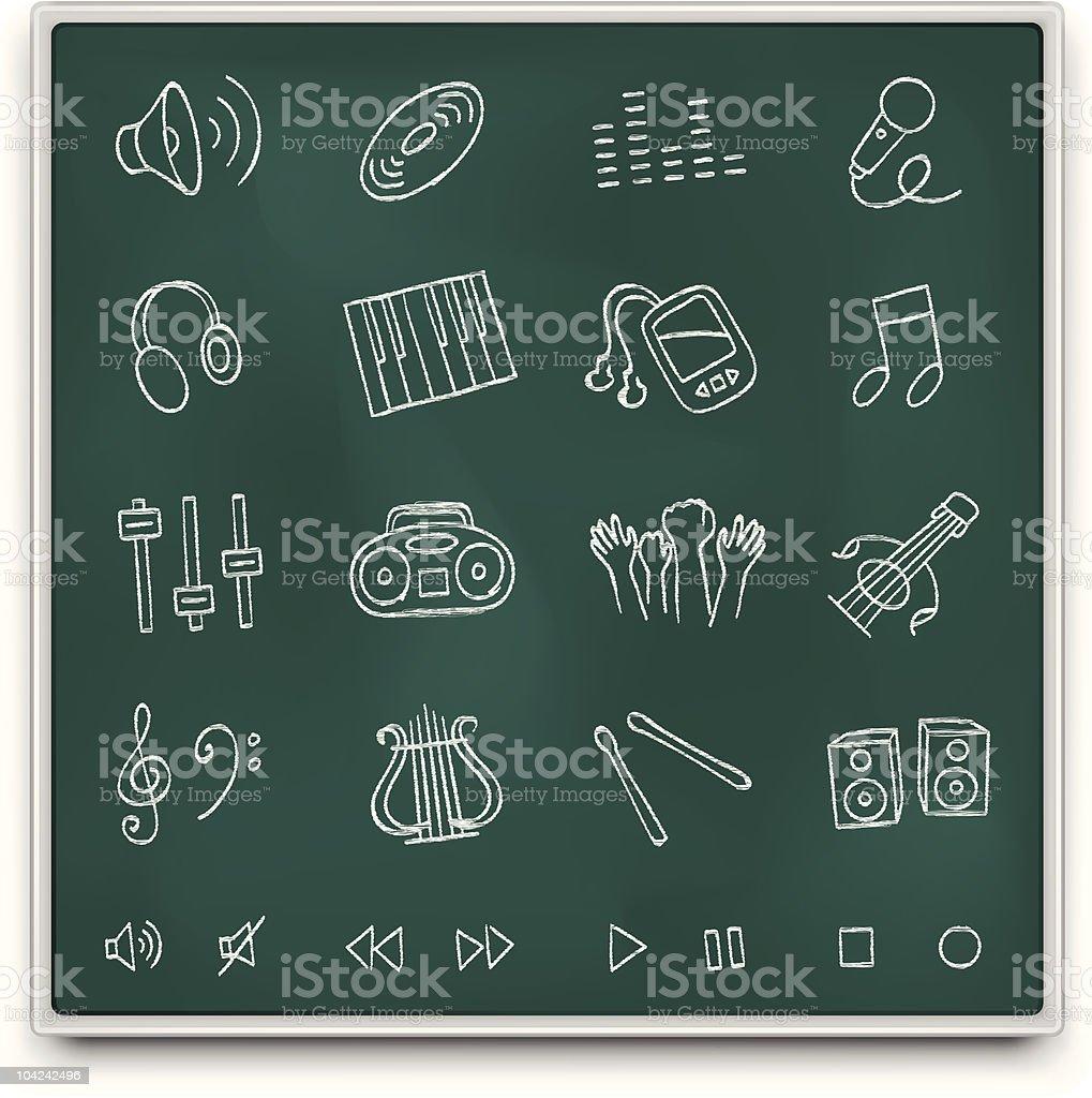 Chalkboard icons royalty-free stock vector art