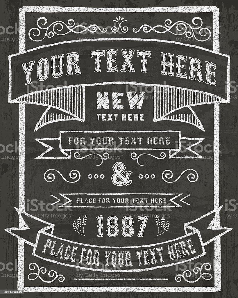 Chalkboard Invitation royalty-free stock vector art