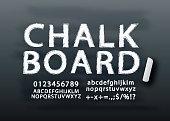 Chalkboard lettering font in vector format