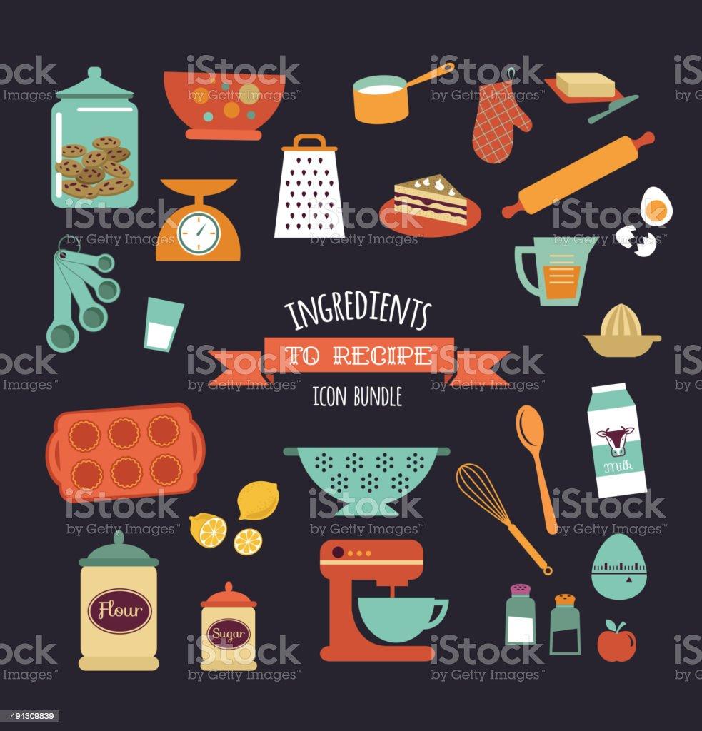 Chalkboard meal recipe template vector design vector art illustration