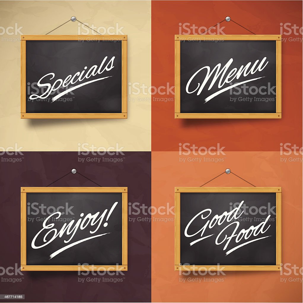 Chalkboard Messages royalty-free stock vector art