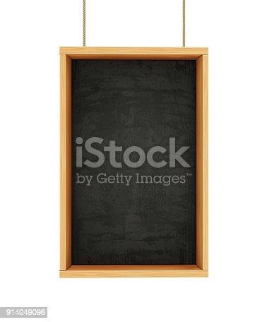 istock Chalkboard on Ropes 914049096