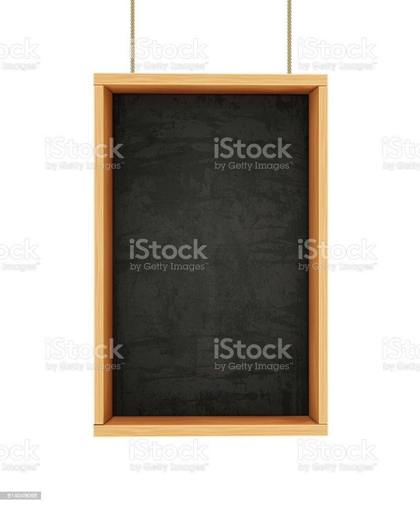 Tableau noir sur des cordes - Illustration vectorielle