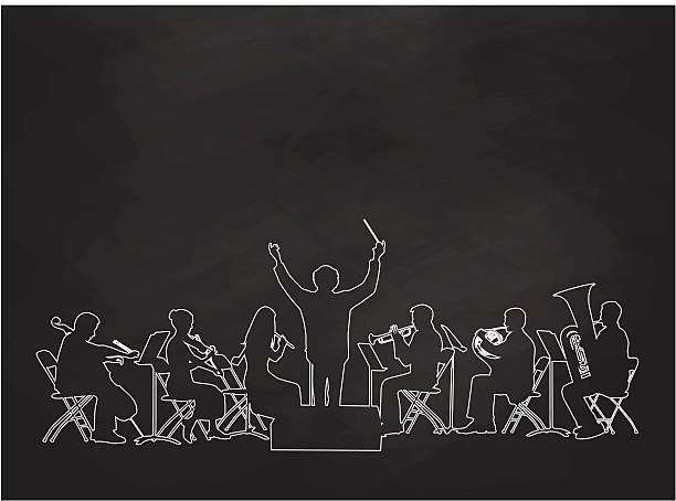 tafel orchestra - bandleader stock-grafiken, -clipart, -cartoons und -symbole