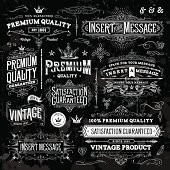 A collection of vintage styled ornate labels. EPS 10 file, with transparencies, layered & grouped,
