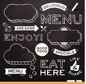 Chalkboard Restaurant Menu Elements