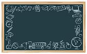 Chalkboard School Symbols