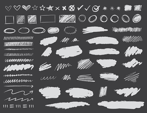 Chalkboard Scribble Design Elements