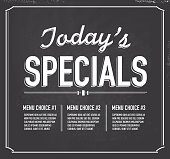 Chalkboard style text template Today's Special design.