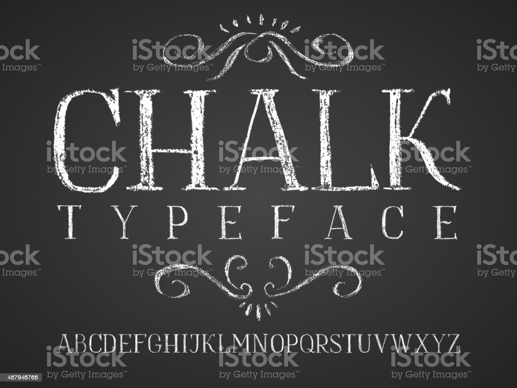 A chalkboard template with chalk writing vector art illustration