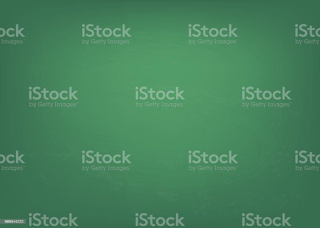 Chalkboard texture. Clean green board blank.  Vector illustration.