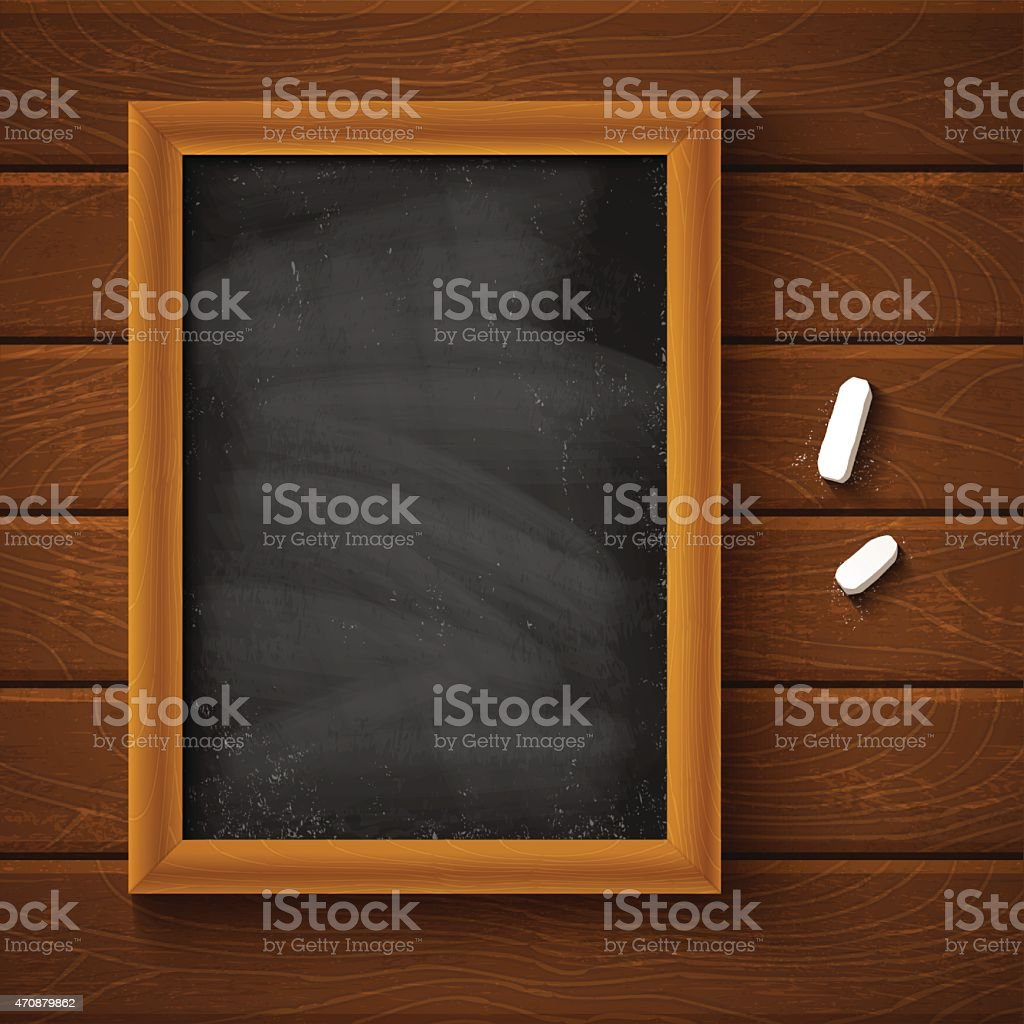 Chalkboard vector art illustration