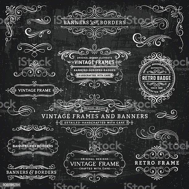 Chalkboard vintage frames banners and badges vector id506598254?b=1&k=6&m=506598254&s=612x612&h=fxdgdtl2pefkplt2bgog2a4i6qkqnmvct4wf7ikj4qc=