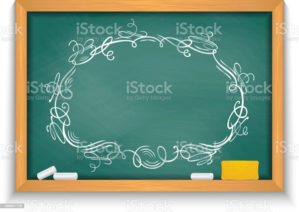 Tafel Mit Verzierten Rahmen Stock Vektor Art und mehr Bilder von ...