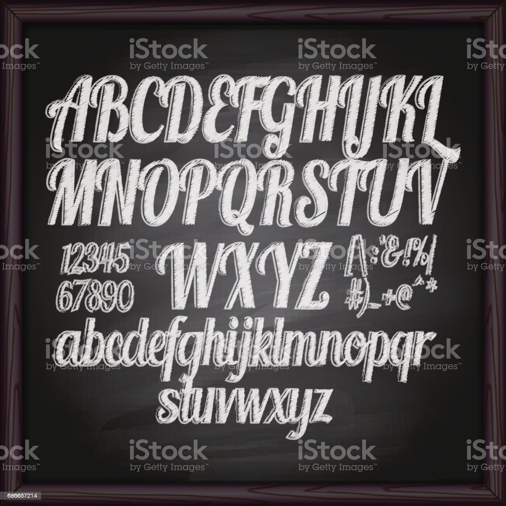 Chalked drawing letters royalty-free chalked drawing letters stock vector art & more images of alphabet