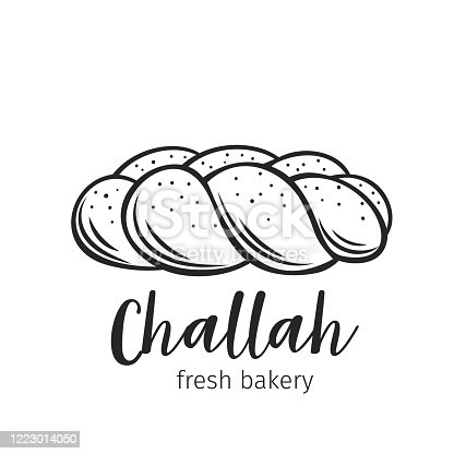 Vector Illustration Of Staple Food Baked Bread Prepared - Challah Clip Art  - Free Transparent PNG Clipart Images Download