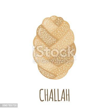 Jewish Challah Bread - Royalty Free Clip Art Image